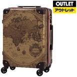 【アウトレット品】 スーツケース トランク H032ブラウン地図柄 7500-46-BRMAP 32L 【外装不良品】