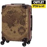 【アウトレット品】 スーツケース トランク H055ブラウン地図柄 7500-60-BRMAP 55L 【外装不良品】