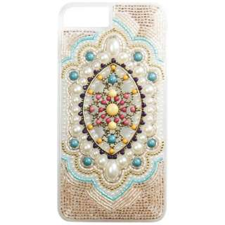 iPhone 8 Plus用 ORNAMENT ETHNIC ブルー ORNAMENTBLUEIP78+