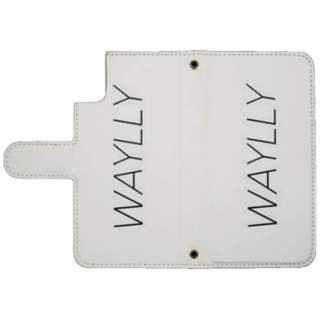 Waylly専用[iPhone X用] ミラー付き手帳型ケース ホワイト WL8NC-WH 壁に張り付くケース