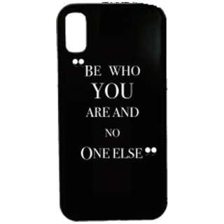 iPhone X用 Waylly Be Who You Are And No One Else WL8-WHO 壁に張り付くケース