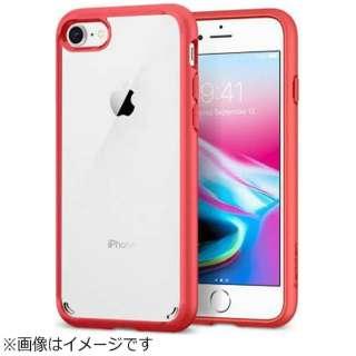 iPhone 8用 Ultra Hybrid 2 レッド 042CS21724