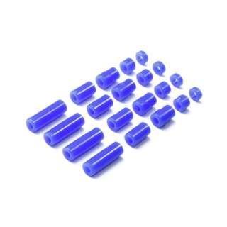 【ミニ四駆】ミニ四駆特別企画 軽量プラスペーサーセット(12/6.7/6/3/1.5mm) ブルー