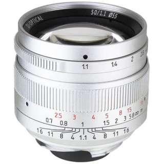 カメラレンズ 50mm F1.1 7Artisans シルバー [ライカM /単焦点レンズ]