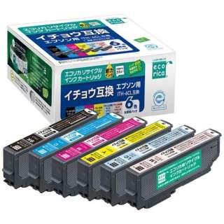 ECI-EITH-6P リサイクルインクカートリッジ【エプソン用  ITH-6CL 互換】 6色