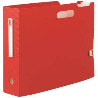 [ボックスファイル]noie-style ドキュメントボックス(A4ヨコ)F-7691-3 レッド