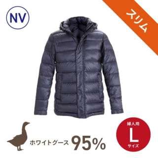 【数量限定】スリムモデル ダウンジャケット(婦人用/Lサイズ/ネイビー)