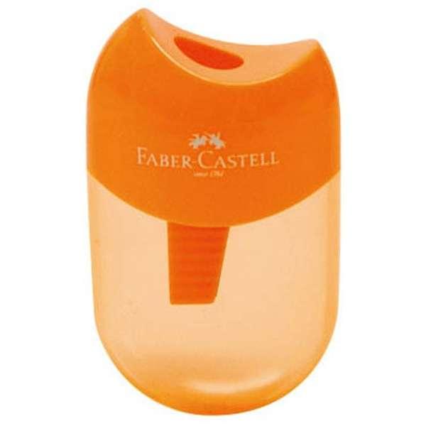 ファーバーカステル 鉛筆削り(丸型ミニ)TFC-183502/H-3 オレンジ
