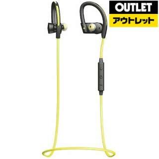 【アウトレット品】 Bluetoothイヤホン [マイク対応 /ワイヤレス(左右コード) /耳かけカナル型]  OTE24 イエロー 【外装不良品】