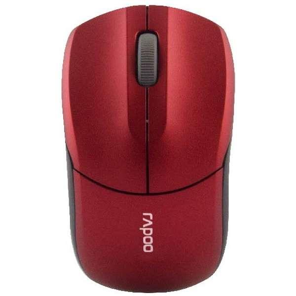 1190RD マウス Rapoo レッド [光学式 /3ボタン /USB /無線(ワイヤレス)]