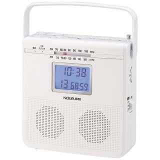 SAD-4703/W CDラジオ ホワイト [ワイドFM対応]