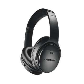 ブルートゥースヘッドホン QUIETCOMFORT 35 WIRELESS HEADPHONES II ブラック QUIETCOMFORT35II [Bluetooth /ノイズキャンセリング対応]