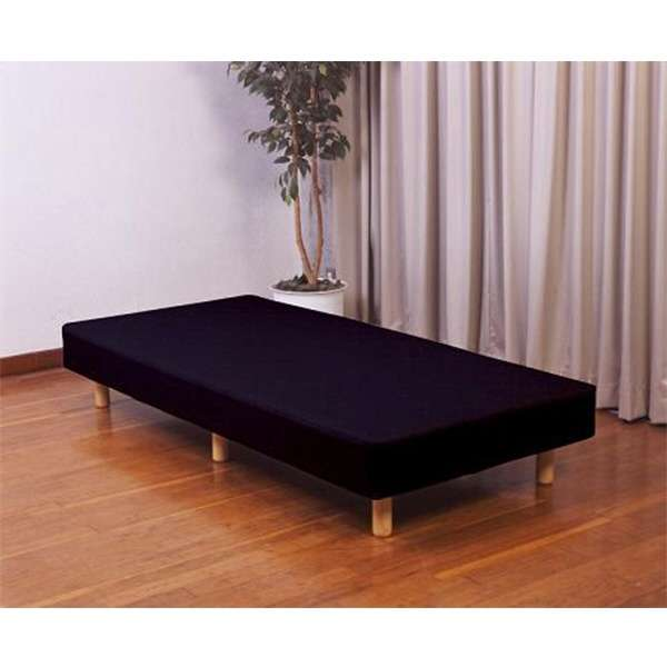 【脚付きマットレス】スプリングマットレスベッド CS-04(セミシングルサイズ/90×195×33cm/ブラック)