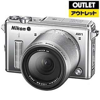 【アウトレット品】 Nikon 1 AW1 ミラーレス一眼カメラ 防水ズームレンズキット シルバー [ズームレンズ] 【生産完了品】