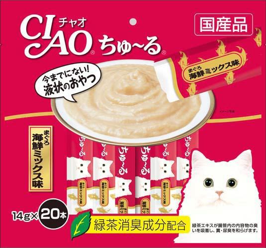 チャオ ちゅ〜る まぐろ 海鮮ミックス味 14gx20本