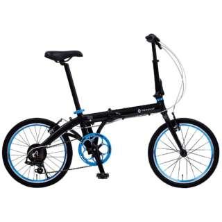 20型 折りたたみ自転車 ルノー ライト10 AL207(ブラック/外装7段変速) 11280-01 【組立商品につき返品不可】
