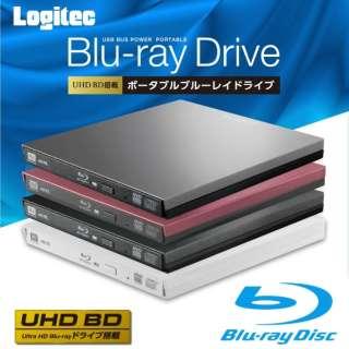 USB3.1接続 ポータブルブルーレイドライブ BDXL対応/UHDBD対応 再生&編集ソフト付 スリム ホワイト LBD-PVA6U3VWH