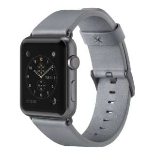 F8W731btC02 Classic Leather Band for Apple Watch 38mm F8W731BTC02 グレイ F8W731BTC02