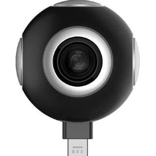 スマートフォン対応[Android Type-C/microUSB] ASUS 360°Camera 90AC02G0-BMK002 ブラック