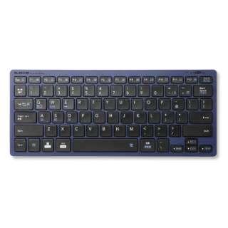 キーボード ミニ ブルー TK-FBP102XBU [Bluetooth /ワイヤレス]