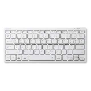 TK-FBP102XWH キーボード ミニ ホワイト [Bluetooth /ワイヤレス]