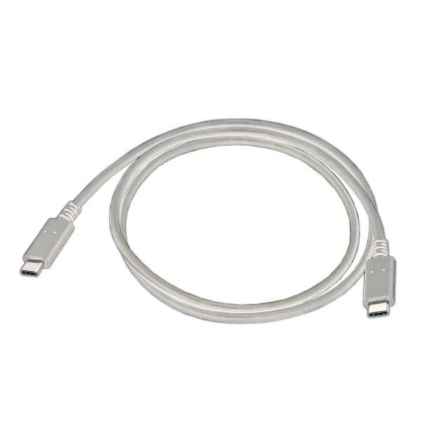0.9m[USB-C ⇔ USB-C]2.0ケーブル 充電・転送 USB PD対応 5A ホワイト E22003WHT