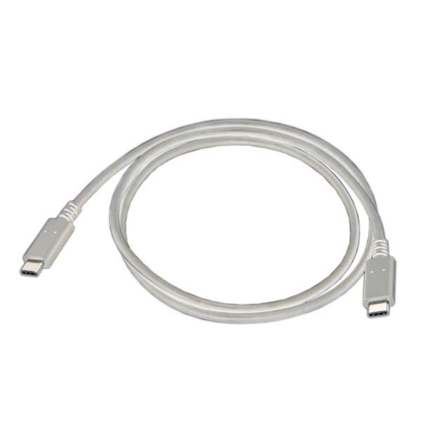 1.8m[USB-C ⇔ USB-C]2.0ケーブル 充電・転送 USB PD対応 5A ホワイト E22006WHT