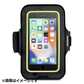 iPhone 8用 Sports Fitアームバンド ブラック/イエロー F8W845btC00