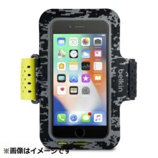 iPhone 8用 Sports Fit Proアームバンド ブラック/イエロー F8W847btC00