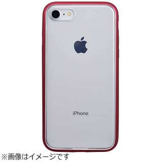iPhone 8用 Shock proof Air Jacket ラバーレッド PBY-53