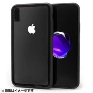 iPhone X用 LINKASE CLEARケース Gorilla Glass ブラック縁・ブラックTPU ATLCGIPX/BLK
