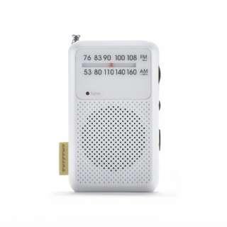 AM/FM モバイルラジオ AM/FM mobile radio AT-OMR0011(WH) ホワイト [AM/FM /ワイドFM対応] 【ビックカメラグループオリジナル】