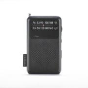 【ワイドFM対応】FM/AM amadana TAG Label モバイルラジオ(ブラック)AT-OMR0011-BK【ビックカメラグループオリジナル】