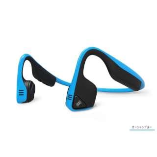 Bluetooth ヘッドホン オーシャンブルー AFT-EP-000001 [マイク対応 /骨伝導 /Bluetooth /ノイズキャンセリング対応]