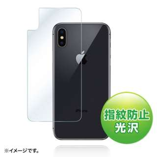 iPhone X用 背面保護 指紋防止光沢フィルム PDA-FIP71FP