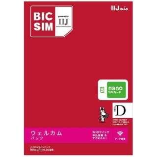 【無料WiFi付SIM同梱】ナノSIM「BIC SIM」データ通信専用・SMS非対応 ドコモ対応SIMカード IMB209