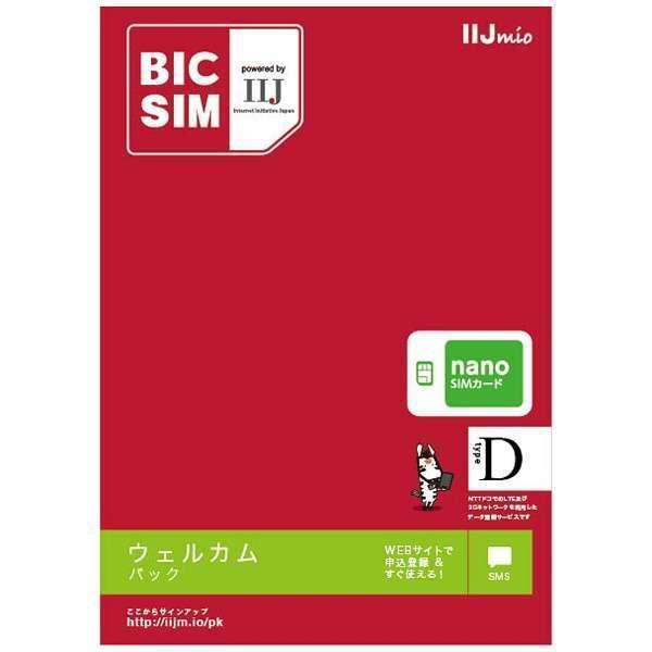 【無料WiFi付SIM同梱】ナノSIM「BIC SIM」データ通信専用・SMS対応 ドコモ対応SIMカード IMB212