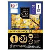 マイクロSIM 「BIC SIMジャパントラベルパッケージ 1GB」  IMB229