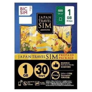 ナノSIM 「BIC SIMジャパントラベルパッケージ 1GB 」 IMB230