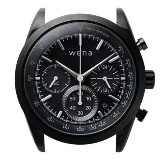 ハイブリッドスマートウォッチ wena wrist Chronograph Solar Black Head WH-CS01 B
