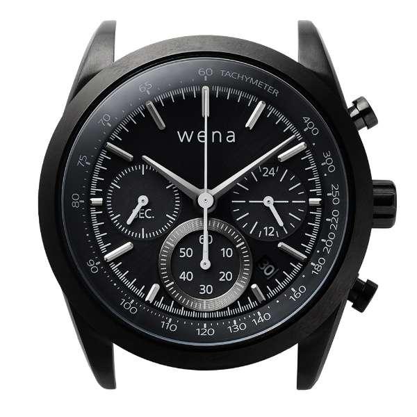 ハイブリッドスマートウォッチ wena wrist Chronograph Solar Black Head WH-CS01 B