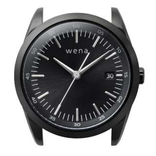ハイブリッドスマートウォッチ wena wrist Three Hands Solar Black Head WH-TS01 B