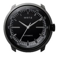 ハイブリッドスマートウォッチ wena wrist Mechanical Black Head WH-TM01 B