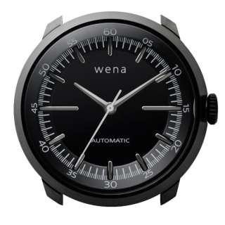 ハイブリッドスマートウォッチ wena wrist Mechanical Black Head WH-TM01 B