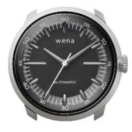 ハイブリッドスマートウォッチ wena wrist Mechanical Silver Head WH-TM01 S