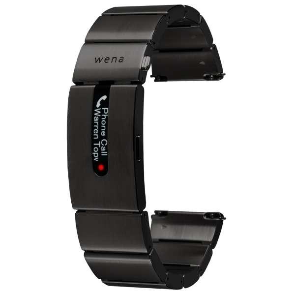ハイブリッドスマートウォッチ wena wrist pro Premium Black(J) WB-11A B