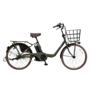 22型 電動アシスト自転車 ギュット・ステージ・22(マットカーキグリーン/内装3段変速) BE-ELMU232G2【2018年モデル】 【組立商品につき返品不可】