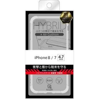 iPhone 8/7 ハイブリッドケース 耐衝撃 高硬度/クリア BKS-P14CC8/CM
