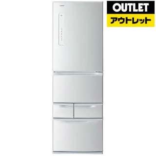 【アウトレット品】 GR-K41G-S 冷蔵庫 VEGETA(ベジータ) シルバー [5ドア /右開きタイプ /410L] 【生産完了品】