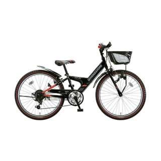 22型 子供用自転車 エクスプレスジュニア (ブラック&レッド/外装6段変速) EX26 【2018年モデル】 【組立商品につき返品不可】